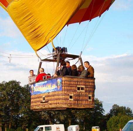 Luchtballon mand